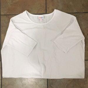 LuLaRoe Irma (S) white tunic (Excellent condition)